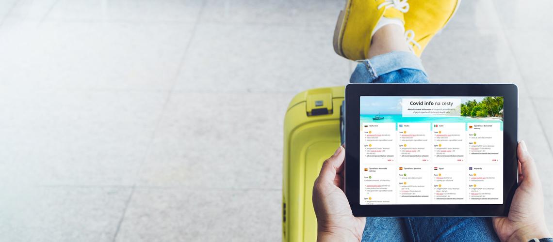 Novinka! Cestovatelská aplikace Covid info